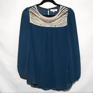 Umgee Long Sleeve Shear Top